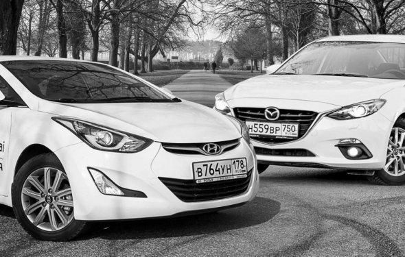 Тест-драйв Mazda 3 против Hyundai Elantra: кто на свете всех